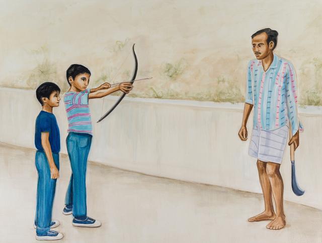 Matthew Krishanu, 'Weapons', 2018, Painting, Oil on canvas, Jhaveri Contemporary
