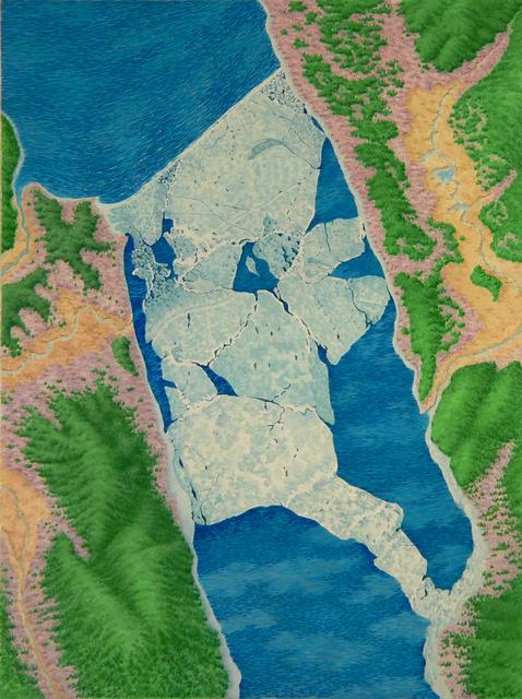 , 'Ice Dam,' 1983, Garvey   Simon