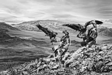 Siezbek And His Brother, Eagle Hunters, Mongolia