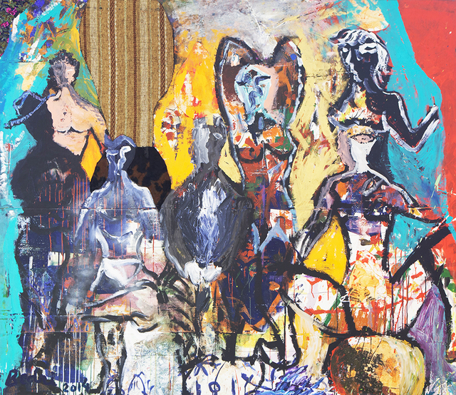 Bedri Baykam, 'Demoiselles with the Sailors', 2014, Piramid Sanat