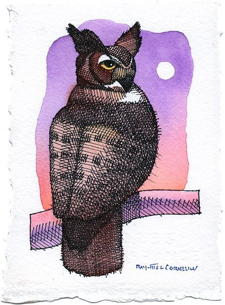 , 'Horned Owl,' 2015, Ro2 Art
