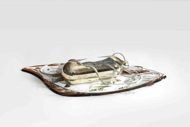 Liu Wa, 'Moon Milk series #3', 2019, Installation, Mirror, glass, zipper, palm leaf, wood, resin, MadeIn Gallery