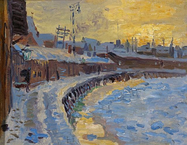 , 'Winterabend an der Trave (Lübeck),' 1910, Galerie Herold