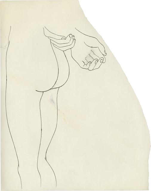 ", '""n.t. (Nude Lower Torso)"",' ca. 1957, Daniel Blau"