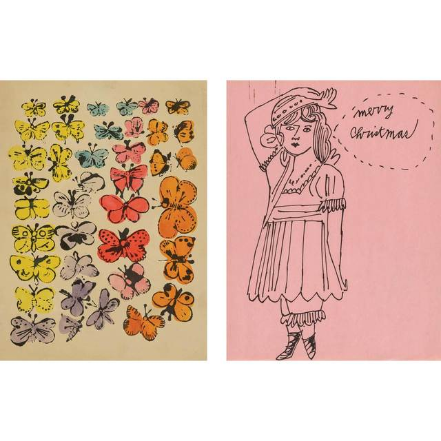 Andy Warhol, 'Happy Butterfly Day; Merry Christmas', circa 1955, Doyle