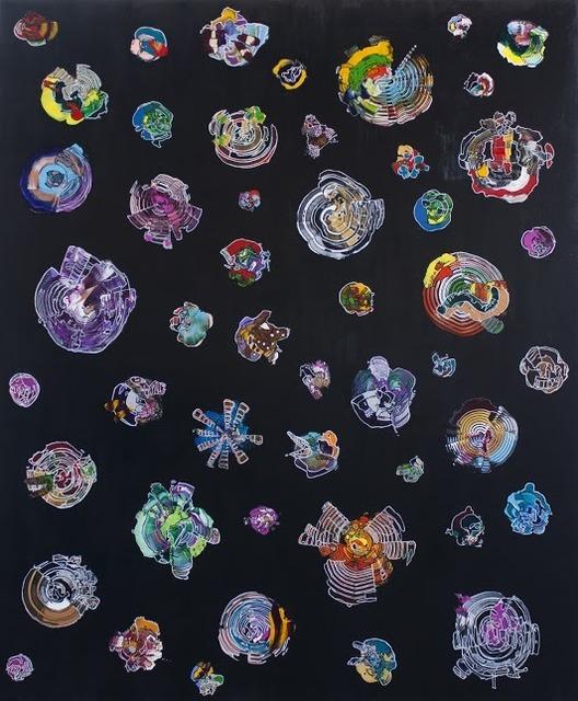 Yuni Lee, 'Galaxies', 2017, Painting, Mixed media on canvas, Ro2 Art