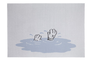 KAWS, 'Untitled (limited edition blanket) blue', 2019, Textile Arts, !00% Cashmere, DELAHUNTY