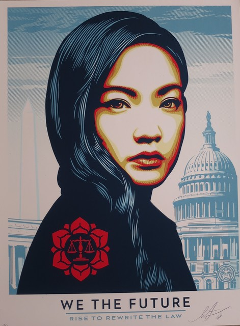 Shepard Fairey (OBEY), 'WE THE FUTURE / Rise to rewrite the law', ca. 2019, AYNAC Gallery