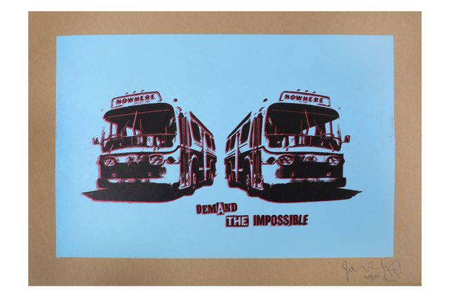 Jamie Reid, 'Nowhere Bus (Blue)', Chiswick Auctions