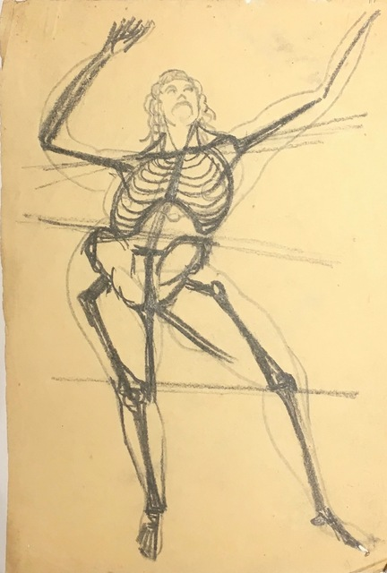 , 'Skeleton Dancing, From the Front,' Not dated., New York Studio School
