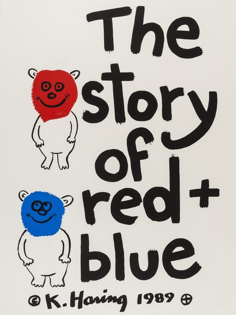 Keith Haring, 'The story of red and blue (Littmann p.128)', 1989, Forum Auctions