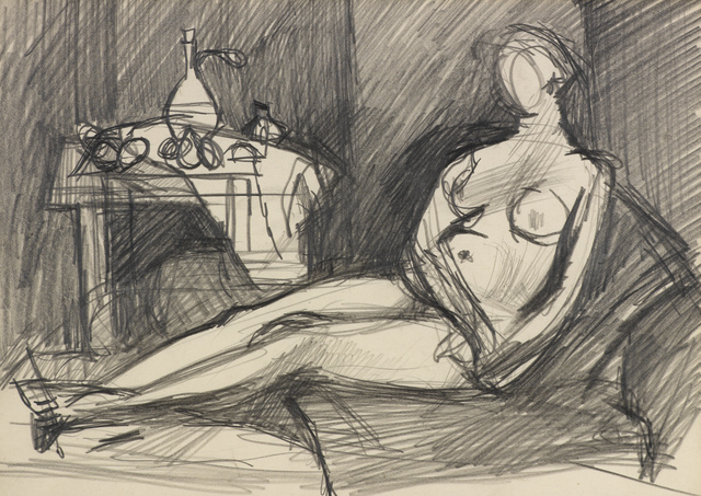 , 'Female Nude in Interior,' ca. 1950, Osborne Samuel