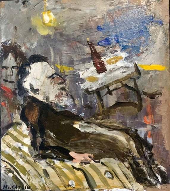 Zvi Milshtein, 'A Rabbi at a Farbrengen', 20th Century, Lions Gallery