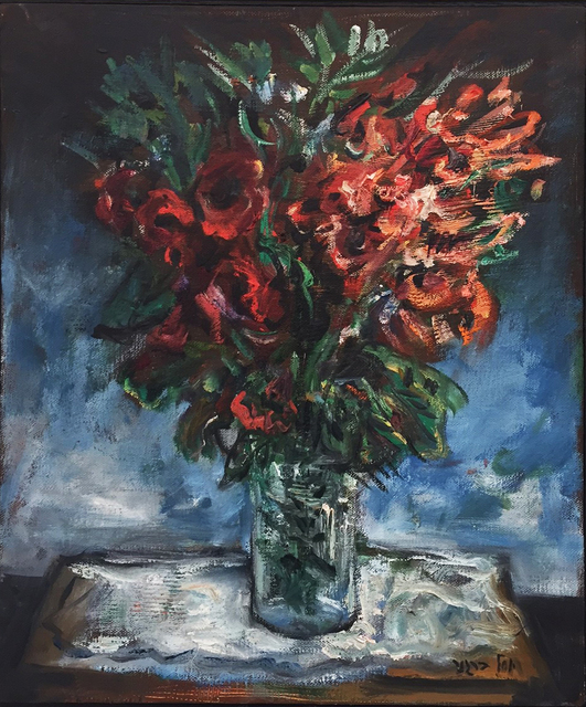 , 'Red Bouquet 2 ,' 1980-1989, Dan Gallery