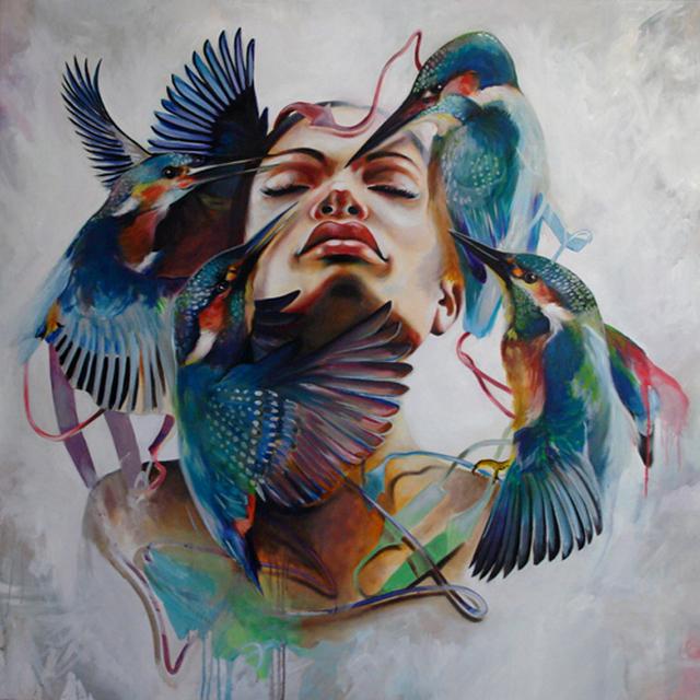 , 'Bird Dream 01,' 2013, Wide Painting