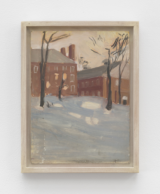 Fairfield Porter, 'Untitled [Amherst College Building in Snow]', Betty Cuningham