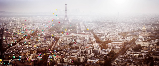 , 'Balloons over Paris,' 2016, Contessa Gallery