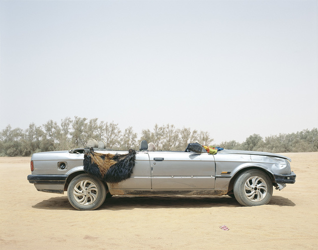 , 'Ubari, Southern Libya, 2015. Tuareg tribal militia group vehicle.,' 2015, East Wing
