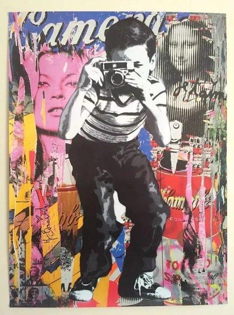 "Mr. Brainwash, 'MR BRAINWASH ""POLAROID BOY"" AUTHENTIC GRAFFITI LITHOGRAPH PRINT ART POSTER', 2018, Arts Limited"