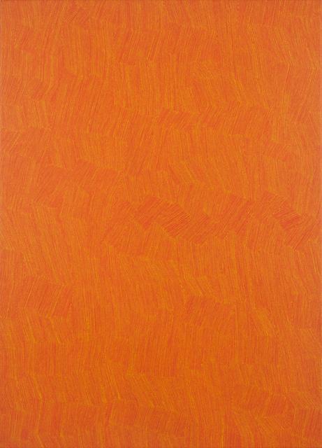 , '53-17 Yellow on Orange,' 2017, Charles Nodrum Gallery