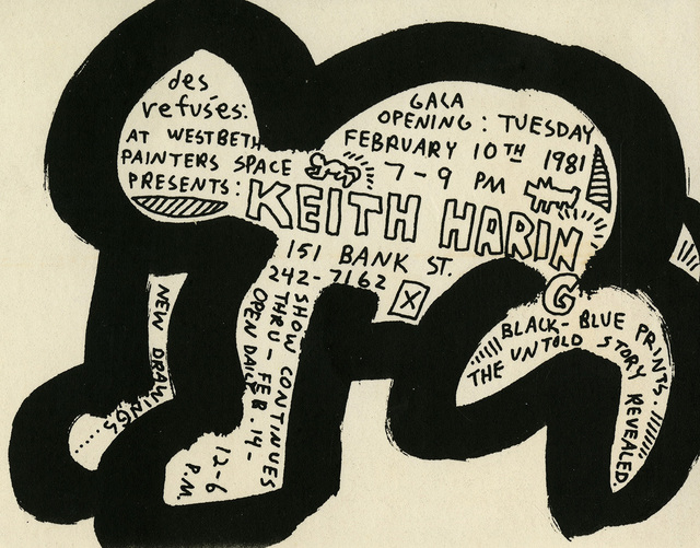 "Keith Haring, 'Keith Haring ""Des Refusés"" at Westbeth Painters Space 1981', 1981, Lot 180"