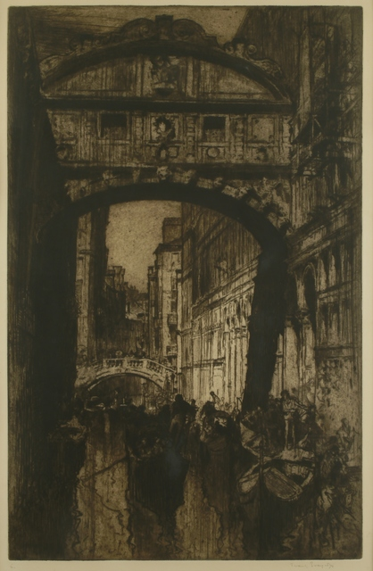 Sir Frank Brangwyn, 'Bridge of Sighs, Venice', ca. 1910, Private Collection, NY