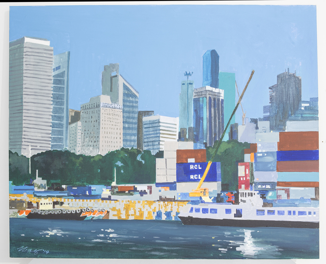 , 'Container Port at Shenton Way,' 2014, Ode to Art