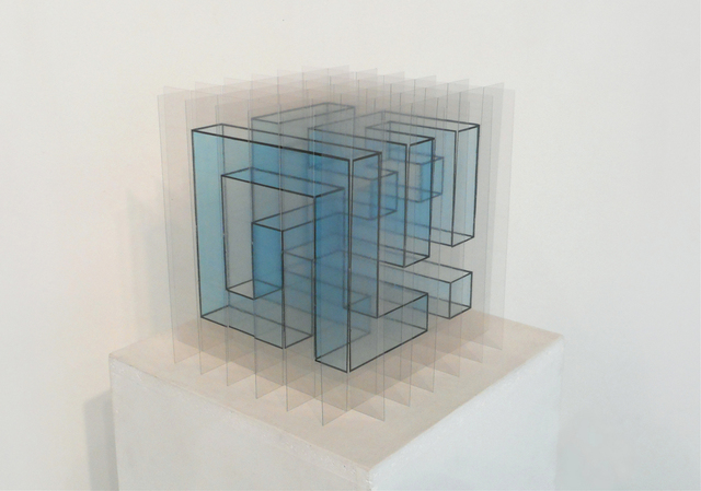, 'cubic snake I (blue),' 2016, Galerie Marie-Robin