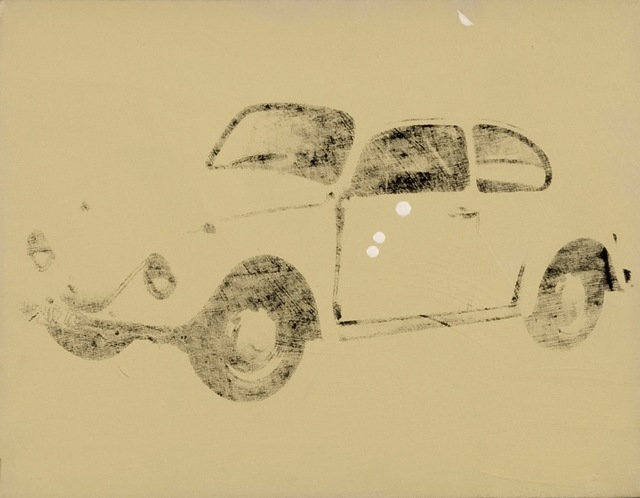 Andy Warhol, 'Volkswagen', 1977, Other, Polymer paint on canvas, Rudolf Budja Gallery