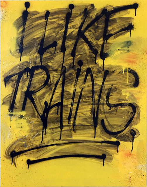 Thierry Furger, 'Trains', 2020, Painting, Spraypaint, acid and scrachtings on aluminiun, KOLLY GALLERY