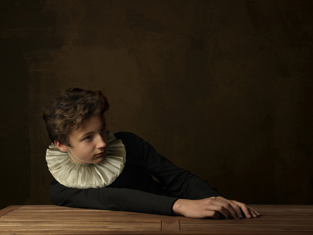 , 'Boy with White Collar at Table,' 2009, SmithDavidson Gallery