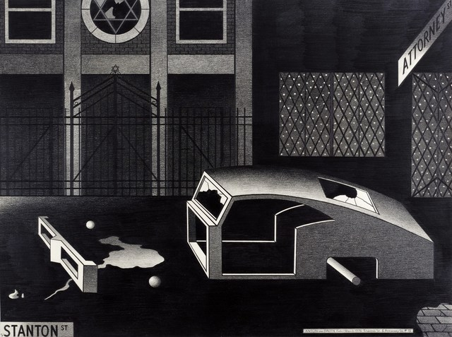 , 'Night Synagogue and Stripped Car,' 1976, P.P.O.W