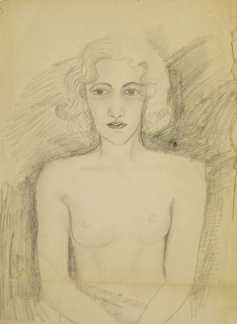Marie Vorobieff Marevna, 'Portrait of a seated nude (recto), and Woman in a hat (verso)', Roseberys