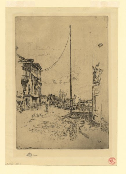James Abbott McNeill Whistler, 'The Little Mast', 1883-1880, Harris Schrank Fine Prints
