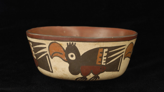, 'Bowl with profile birds,' 100 BCE-600 CE, Blanton Museum of Art