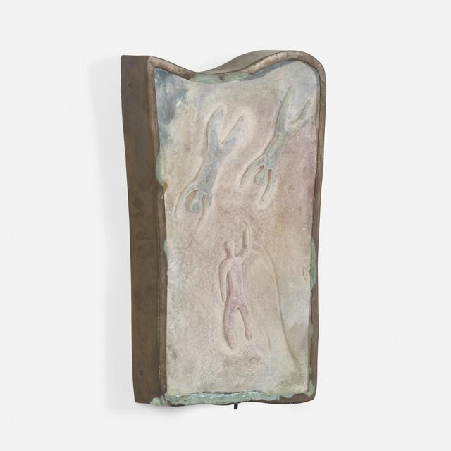 Napoleone Martinuzzi, 'sconce', c. 1955, Sculpture, Scavo glass, bronze, Rago/Wright