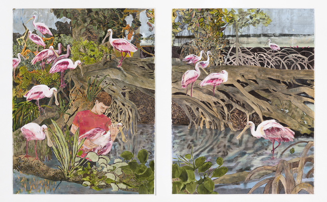 , 'A pink flock,' 2015, Galerie Peter Kilchmann
