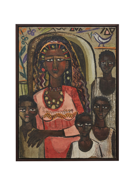 Gazbia Sirry, 'Portrait of a Nubian Family', 1962, Barjeel Art Foundation