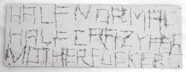 , 'Half Normal Half Crazy Mother Fucker,' 2015, CES Gallery