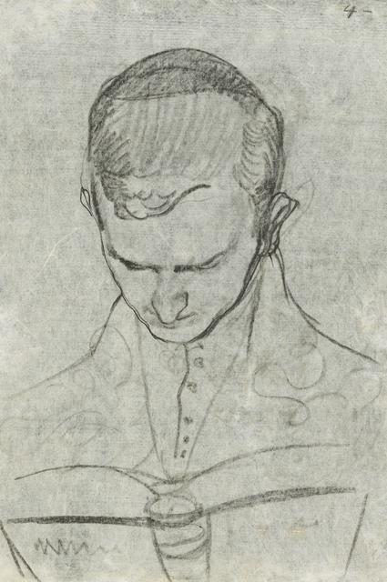 , '»Bildnis Walter Gerhardt, lesend«,' 1907, Ludorff