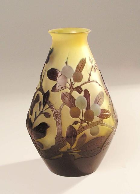 , 'Vase with medlar,' Nancy, France, c. 1900, Galerie Kovacek
