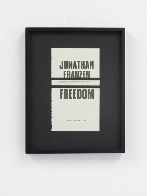 , 'Disclaimers (Jonathan Franzen: Freedom),' , Galeri NON