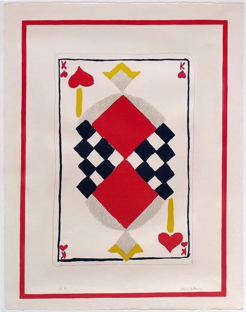 Sonia Delaunay, 'Roi de Coeur', 1964, Kunzt Gallery