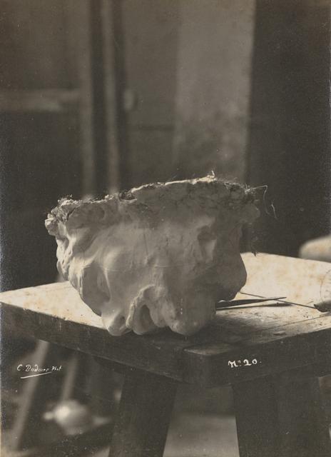 , 'Tête de Saint Jean-Baptiste en plâtre (Head of Saint John the Baptist in plaster),' c. 1887, Musée Rodin