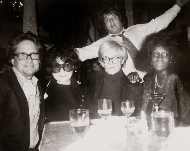 Andy Warhol, 'Andy Warhol Photograph of Michael Douglas, Yoko Ono, Andy Warhol, Jann Wenner, ', Hedges Projects