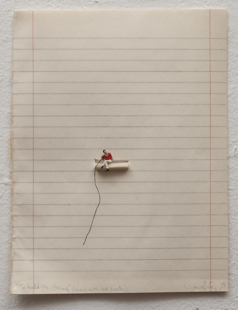 ", '""To Hold The String (Man with Red Sweater)"",' 2017, Luciana Brito Galeria"