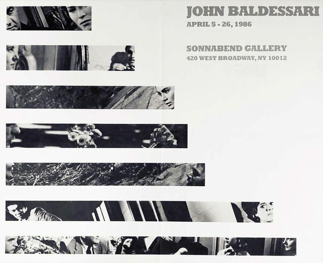 John Baldessari, 'John Baldessari 1986 exhibition poster (John Baldessari at Sonnabend 1986) ', 1986, Lot 180