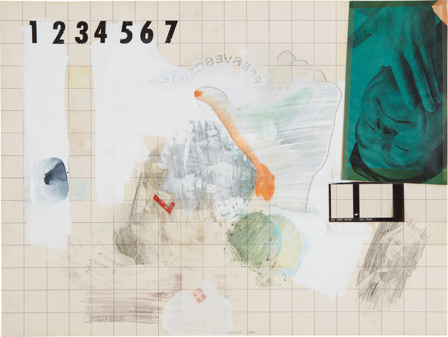Robert Rauschenberg, 'Dietrich Draw', 1966, Drawing, Collage or other Work on Paper, Solvent transfer with gouache, pencil and collage on paperboard, Phillips
