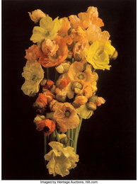 Floral bouquet of orange and yellow flowers
