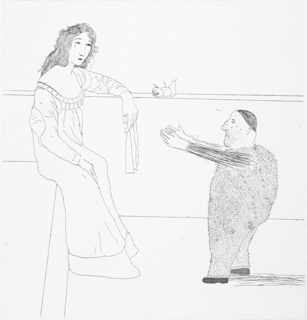 David Hockney, 'Pleading for the Child', 1969, TAI Modern